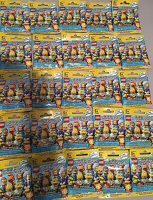 Lego Mini-figure Simpsons Series 2 Lot Of 25 Blind Bags Sealed