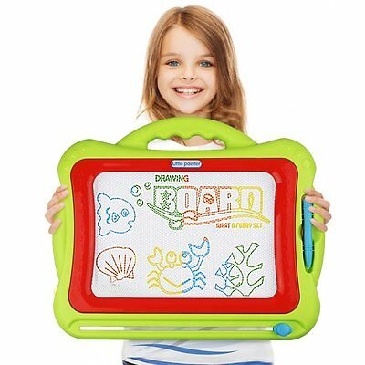 Magnetic Drawing Board,Kids Magna Doodle Erasable Writing Sketch Board Pad Green