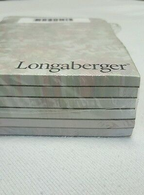 LONGABERGER Holiday Fabrics NOTE PADS 2 each of 3 CHRISTMAS DESIGNS