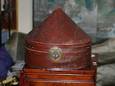 Antique Chinese Court Official Hat Box