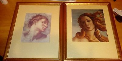 set of two framed pictures