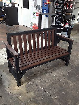 Seat Bench Garden Furniture  2 Seat 100% Recycled Plastic