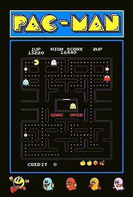 PAC-MAN Video Arcade Game Reproduction Counter Top Stand-Up Display