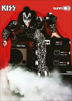KISS Band Gene Simmons SUNN Amp Ad Reproduction Stand-Up Display - Alt. Version