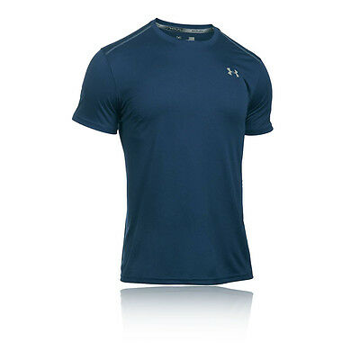 Under Armour Coolswitch Hombre Azul Manga Corta Cuello Redondo Running Camiseta