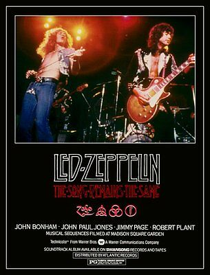 "Led Zeppelin ""The Song Remains The Same"" Reproduction Stand-Up Movie Display"