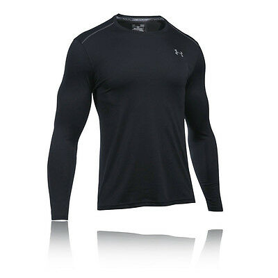 Under Armour Coolswitch Hombre Negro Manga Larga Cuello Redondo Running Deporte