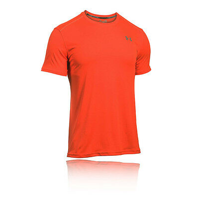 Under Armour Coolswitch Hombre Naranja Manga Corta Cuello Redondo Camiseta Top