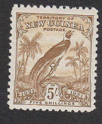 New Guinea 1931  5/- olive S.G.160 mint hinged