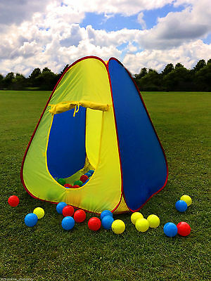 Large Kids Childrens Pop Up Tent Ball Pit Indoor/Outdoor Play Pen Wendy house UK