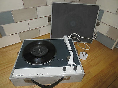 1960/70s Vintage Lenco Phonoboy Portable Record Player - Full Working Order
