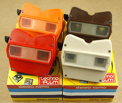 x4 Techno Film Stereorama Viewers View-Master Alike Made in Italy New Old Stock