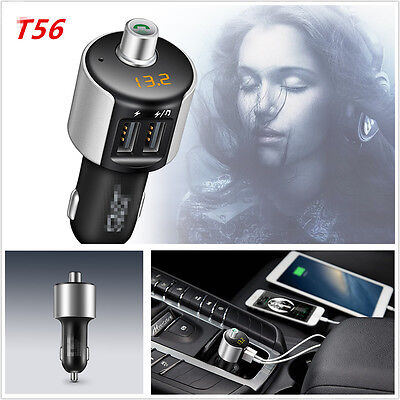 Bluetooth Car Kit FM Transmitter Wireless Radio Adapter Dual USB 3.1A Charger