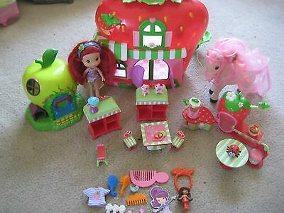 Strawberry Shortcake House, Car, Furniture, Doll, Horse with extra Playset