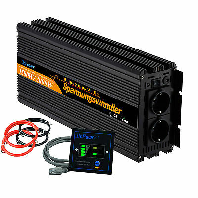 Power Inverter 12V 220V Pure Sine Wave Convertisseur 1500W 3000W Free REMOTE