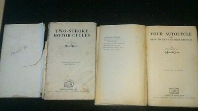 1940's Your Autocycle and Two Stroke Motor Cycles  books