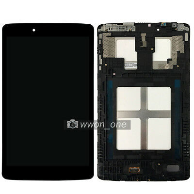 Black LG G Pad 8.0 V480 V490 LCD Display Touch Screen Digitizer Assembly Frame