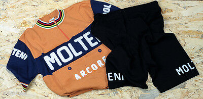 MOLTENI vintage wool jersey and shorts SET, new, never worn XL