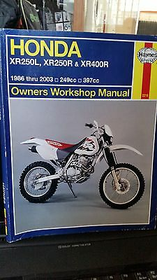 Manuale Officina Honda Xr250R Xr400R Xr250L Dal 1886 Al 2003 Owners Workshop