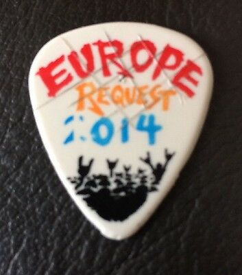 Stage Used? Metallica By Request Europe Guitar Pick Plectrum