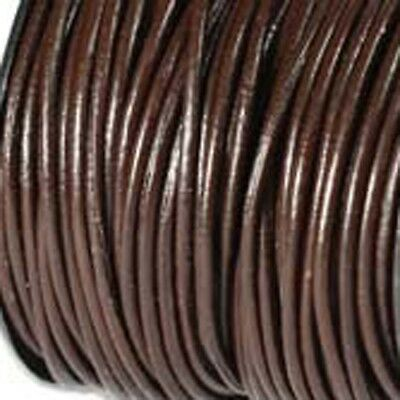 0.5mm Brown Leather Round Cord 5 yards 41641