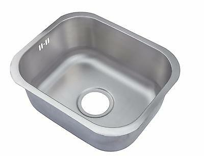 Brushed Stainless Steel Undermount Kitchen Sink 1.0 Single Bowl 435x360 (A12 bs)