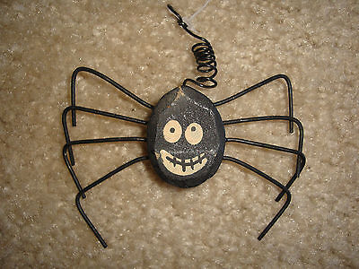 Primitive Spider Hanging Ornament Halloween Fall Holiday Home Decor Accent