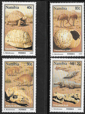 Namibia 1995 Fossils Complete Mnh Set 0758