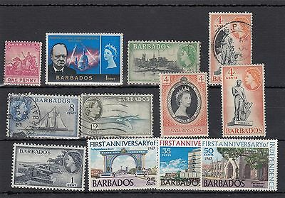 Barbados.12 -- Mounted Mint/used Stamps On Stockcard
