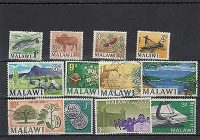 Malawi.12-- 1960's Used Stamps On Stockcard