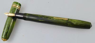 Conway Stewart 36 Lined Green Fountain Pen 14 Ct Gold Nib To Restore