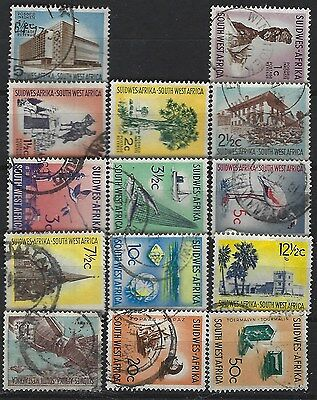 SOUTH WEST AFRICA 1961 Sc#266-79 DEFINITIVE SHORT SET WATERMARK 330 USED 2674