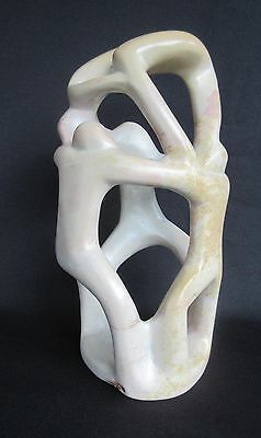 Mid Century Modern Carved Marble Sculpture (Abstract Art)