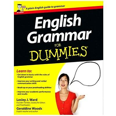 English Grammar For Dummies UK Edition Book By Leslie J Ward 2007 Paperback