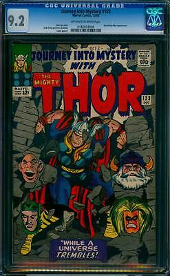Journey into Mystery # 123  While a Universe Trembles !   CGC 9.2 scarce book !