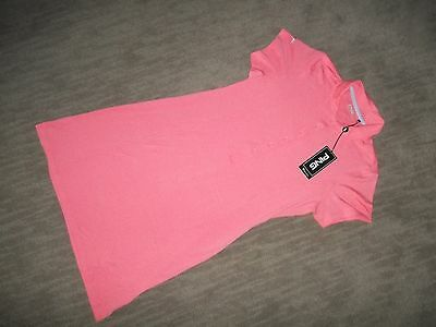PING Performance womens GOLF Players Pique Coral Polo DRESS Size MEDIUM NEW wTAG