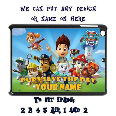 Personalised Ipad To Fit 2 3 4 5 Air 1 & 2 Case Cover Unofficial Paw Patrol