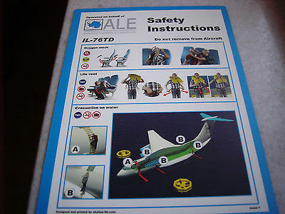 Safety card ALE IL-76