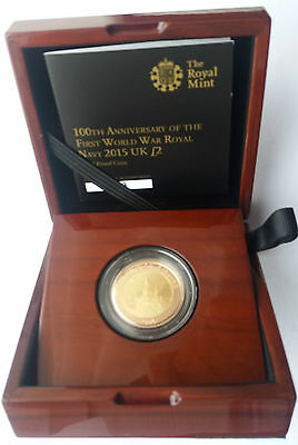2015 Royal Mint Two Pound £2 Gold Proof Royal Navy Coin