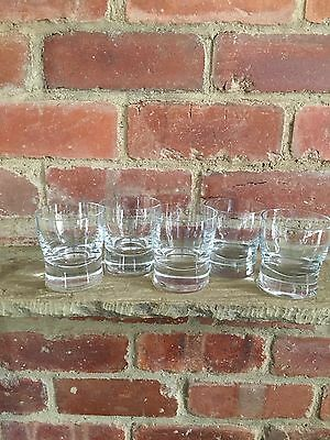 Set of 5 Denby Glassware China Small Tumblers Clear 250 ml capacity