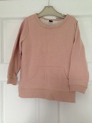 Girls Gap Fur Lined Jumper Age 5years