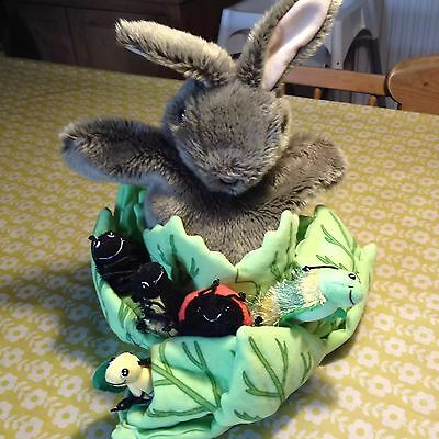 Gorgeous The Puppet Company Rabbit In A Lettuce With Mini Beasts - Rrp £29.99