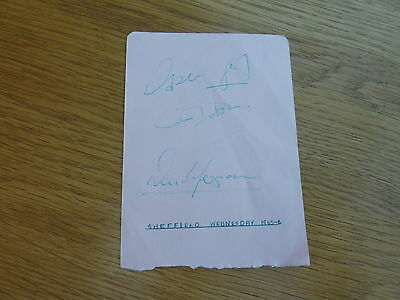 1965 1966 Sheffield Wednesday 3 X Original Football Autographs On Page