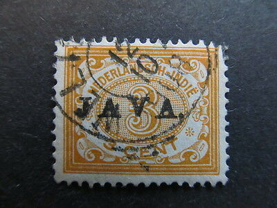 A3P29 Netherlands Indies 1908 optd 3c used #61