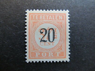 A3P29 Netherlands Indies Postage Due Stamp 1937 20c on 37 1/2c mh* #132