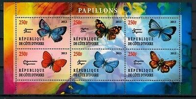 Bloc Sheet Papillon Butterfly Neuf MNH ** Côte d'ivoire 2013 Private local/issue
