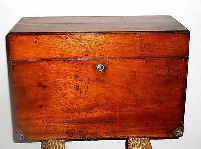 Antique Large Mahogany Tool Instrument Campaign Box Dated 1891