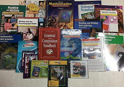 Grade 7 Curriculum Lot of 20 Educational Items 7th Homeschool Multiple Subjects