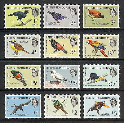 British Honduras Birds 1962 Set of 12. SG 202- 213. MH