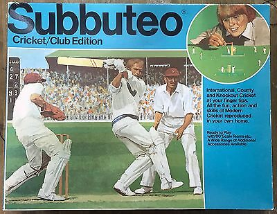 Vintage Subbuteo Table Cricket Club Edition - 1970s - Lovely